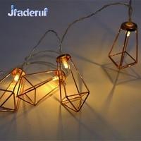 Jiaderui Diamond New Year Holiday Lights 3m 20 LEDs Metal Water Drop String Light Christmas Light