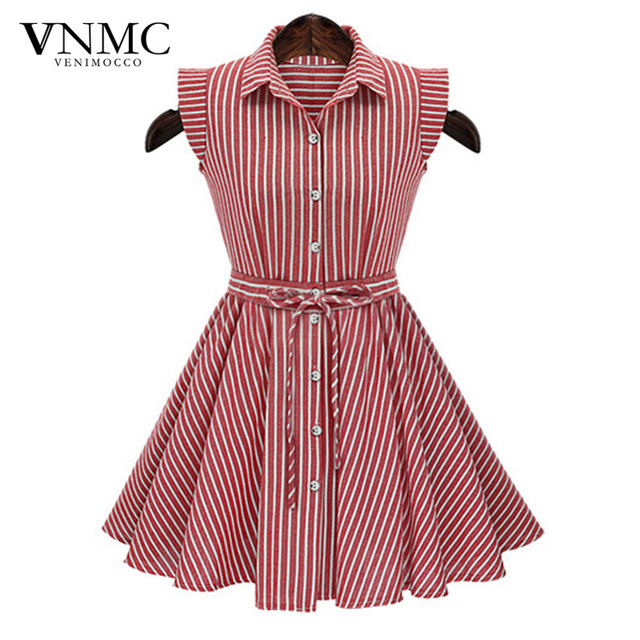 2492a6ba9d0 Stripe Dress Women 2015 Summer Dresses Casual Polo Slim Thin Sleeveless Big  Swing Red And White Vertical Striped Dress 2292