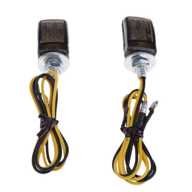 1 paar Motorrad Blinker Lichter Dreieck LED Sequential Blinker Indikatoren Universal Für 6mm Gewinde Motorrad Modell