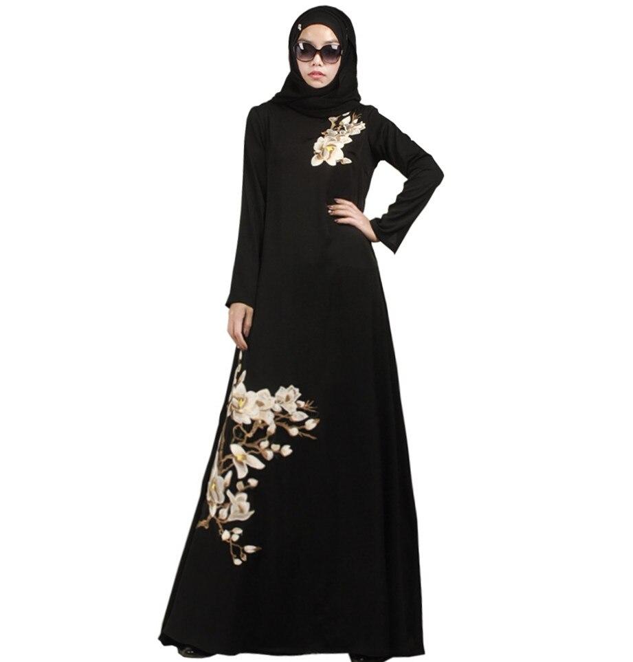 2016ファッションイスラム教徒アバヤドバイイスラム教徒イスラム教徒アバヤジルバブジェラバムスルマンプリントドレスコットンアバヤバレエドレス少し創造的な工場