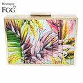 Chinese Style Women Flowers Floral Print Casual Clutch Purse Striped Day Clutches Handbag Ladies Banquet Prom Dinner Party Bag