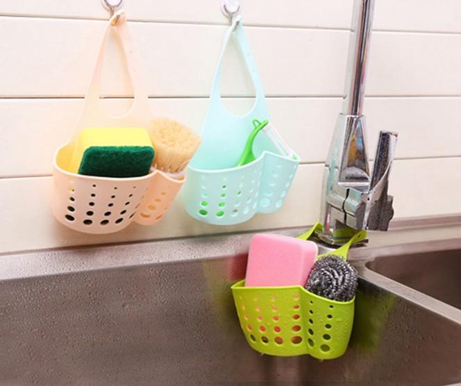 1PC kempinės laikymo stovo krepšelio plovimo skalbykla / tualeto - Organizavimas ir saugojimas namuose