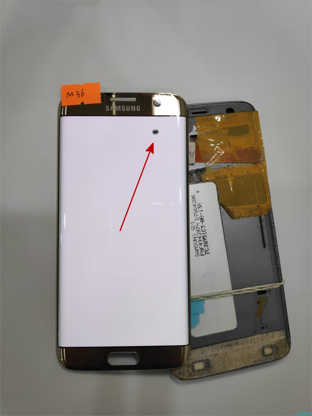 NO M36 for Samsung Galaxy S7 edge G935F G935FD Defect Spot Lcd display touch screen Digitizer