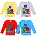 2-8Y Fashion Winter Children Pj Cartoon Masks T-shirts for Boys Long-sleeve Cotton Casual Clothes Carnival Costume for Kids