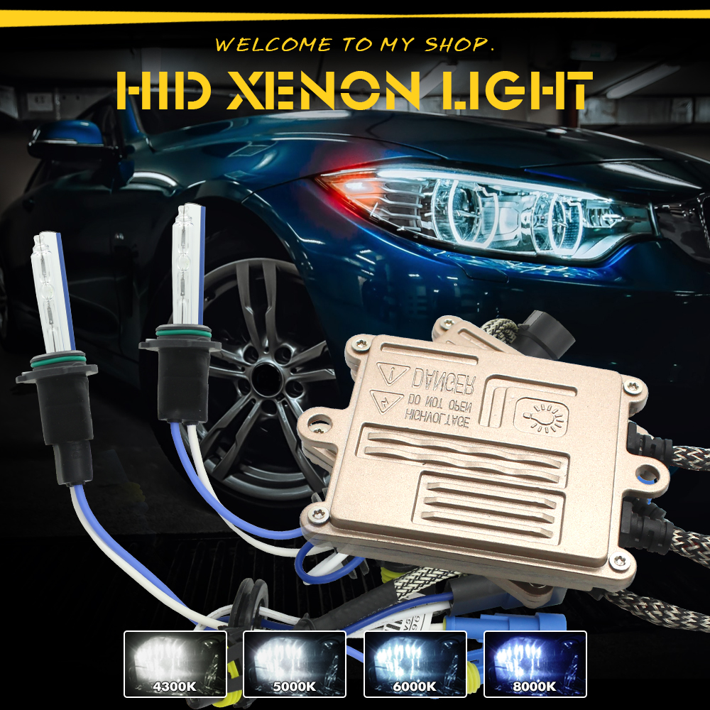 цена JGAUT HID Kit AC 55W Car Headlight Quick Start H1 H4 H7 H8 H9 H11 9005 9006 9012 Ballast Bulb 4300K 5000K 6000K 8000K