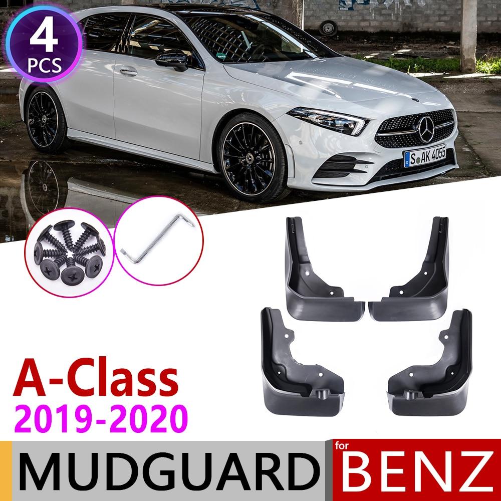 4 PCS Front Rear Car Mudflap For Mercedes Benz A-Class A W177 2019 2020 Fender Mud Guard Flaps Splash Flap Mudguards Accessories