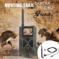 Skatolly caza HC300M Cámara sendero caza HC-300M Full HD 12MP Video de 1080P visión nocturna MMS GPRS buscando Hunter nueva cámara