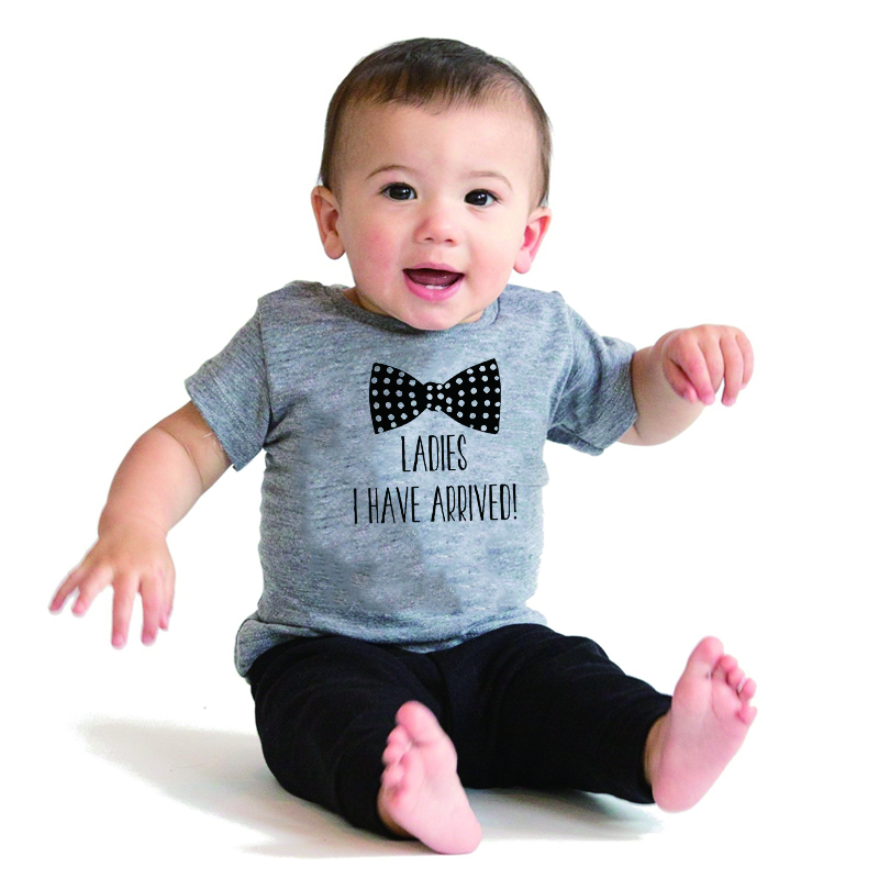 Hy0245 Hipster Baby Boy Bow Tie Cute Baby Clothes Ladies I Have
