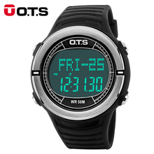 OTS Digital Sports Watches Men Women Health Pulse Heart Rate Step Calories Pulsometer Pedometer Waterproof Military Wristwatches