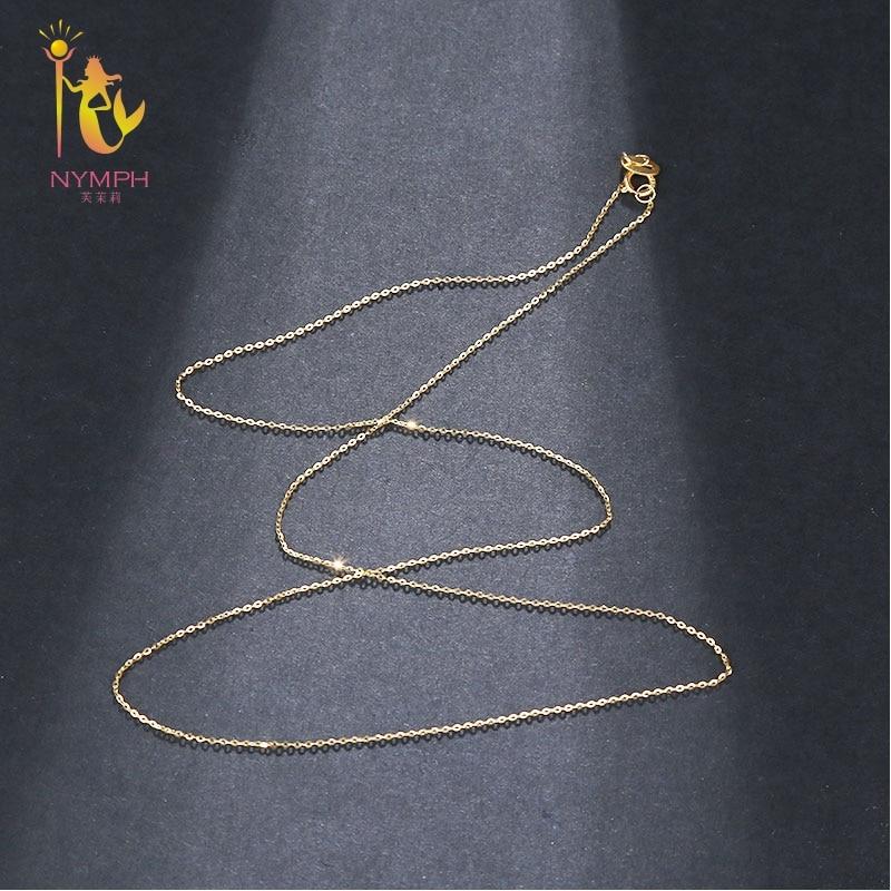 NIMF Echt 18 K Wit Geel Gouden Ketting 18 inches au750 Kostprijs - Fijne sieraden - Foto 5