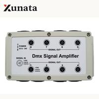 DMX signal amplifier 8 Channel Output DMX512 LED Controller stage control station head shaking lamp Splitter Distributor 12 24V
