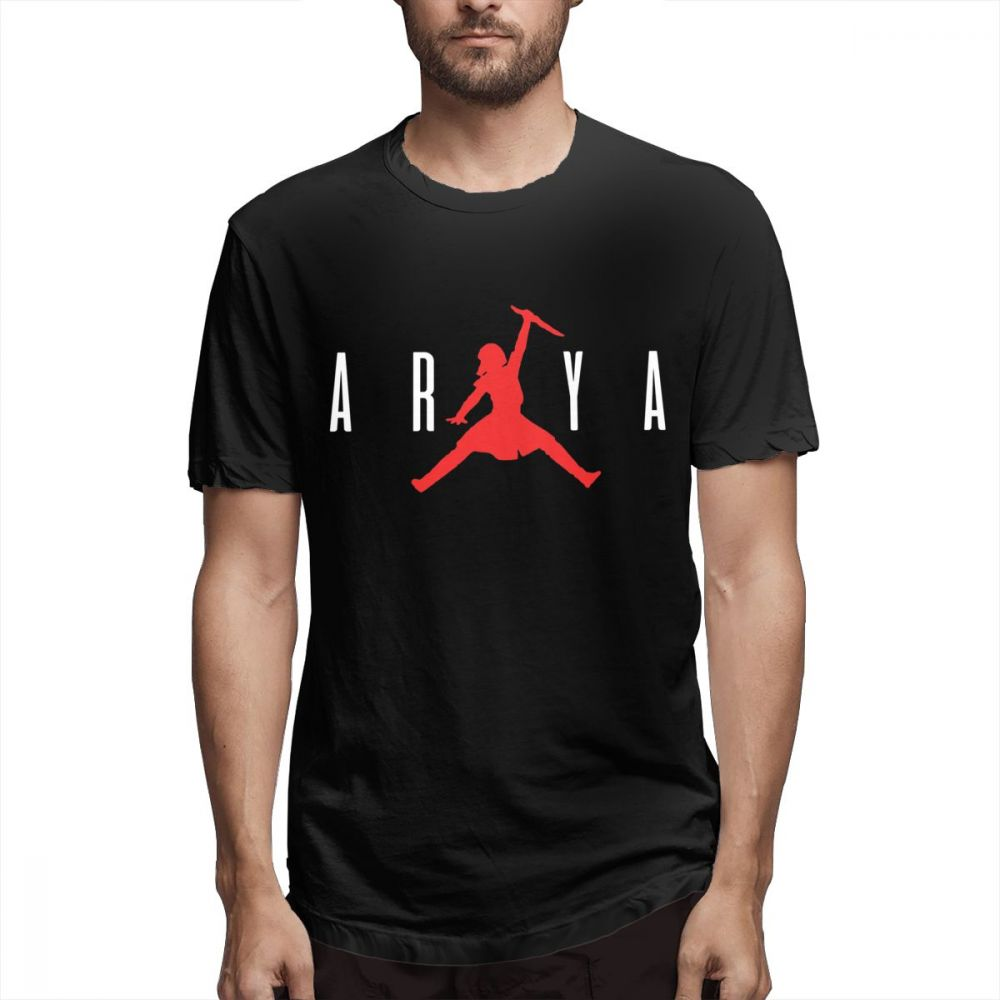 Awsome Arya Stark Not Today   T     Shirt   For Men New Stylish TV Series Game Of Thrones Homme Tee   Shirt   Crewneck Plus Size   T  -  Shirt