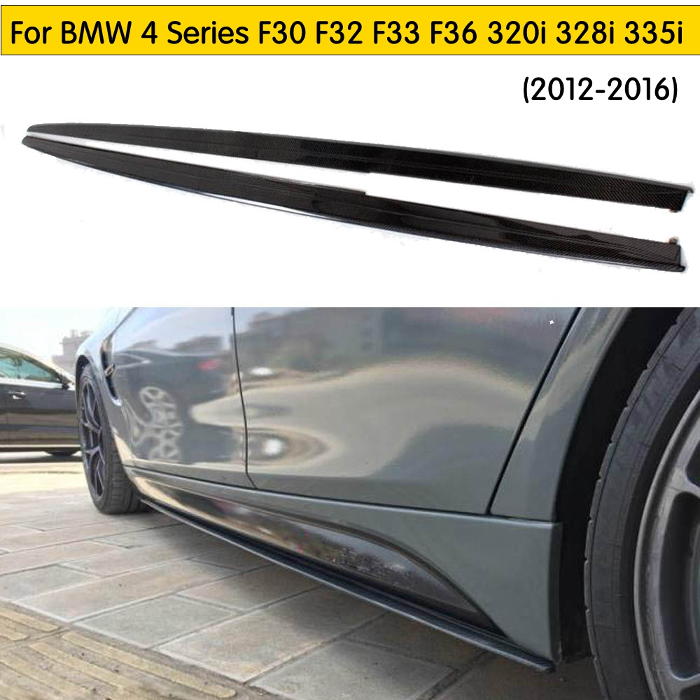 Extension Side Lip Carbon Fiber Side Skirts Body Kits for BMW 4 Series F30 F32 F33 F36 m-tech side surrounded bumper car stylingExtension Side Lip Carbon Fiber Side Skirts Body Kits for BMW 4 Series F30 F32 F33 F36 m-tech side surrounded bumper car styling