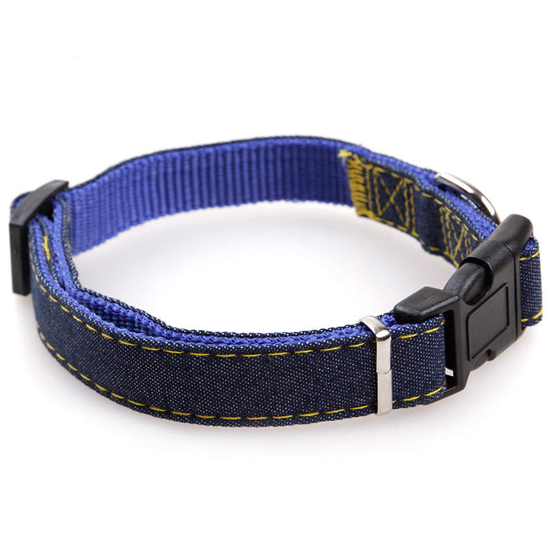 Pet Dog Cat Collar Clip Buckle Jean Collar Outdoor Sports Safety Lead Leash For Small Medium Dogs Chihuahua Cats S M L XL Strong (3)