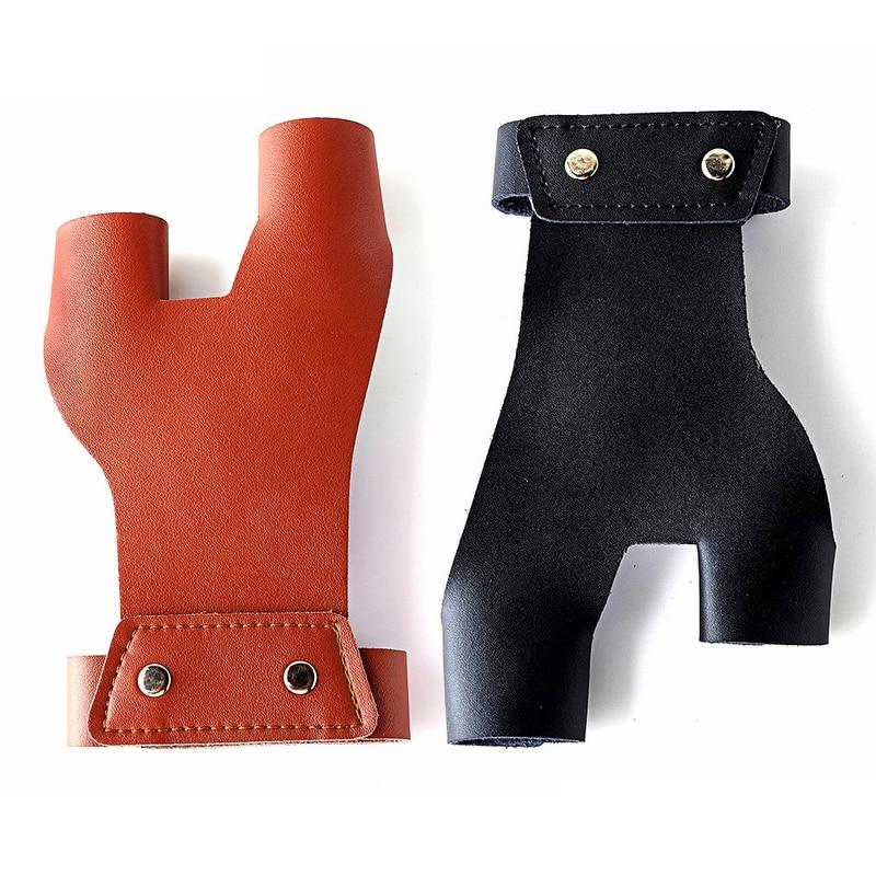 Cow Leather Bueskyddshandskar Handskydd Skyddsskydd Pad Tab Archery - Jakt