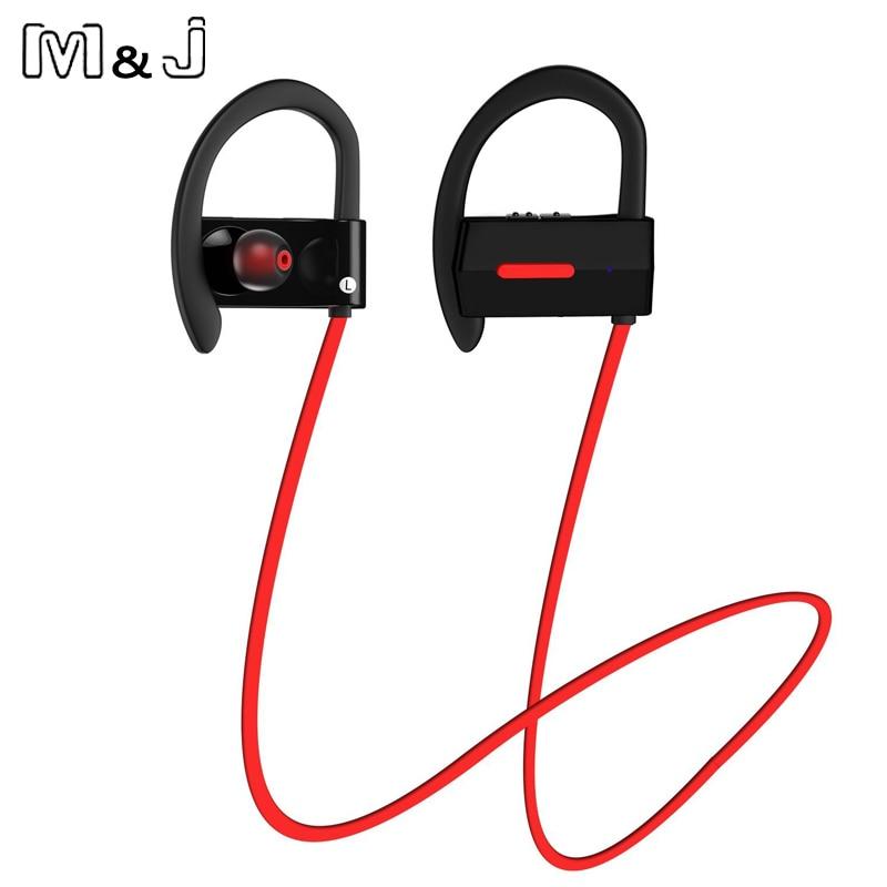 M & J Sports Wireless Bluetooth 4.1 Headphone Ear Hook Hifi Stereo - Audio dan video mudah alih - Foto 3