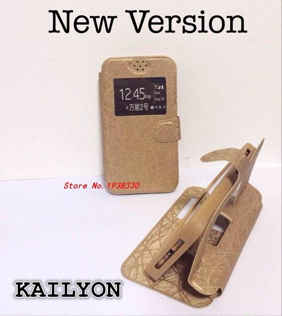 Новая мода искусственная кожа флип для Prestigio Grace Z5 случае Высокое качество Роскошный чехол окном view Cover F2 для Prestigio Grace z5