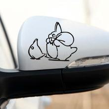 Aliauto 2 x Lovely totoro Car rearview mirror Stickers and decal accessories for volkswagen ford focus mazda peugeot renault kia