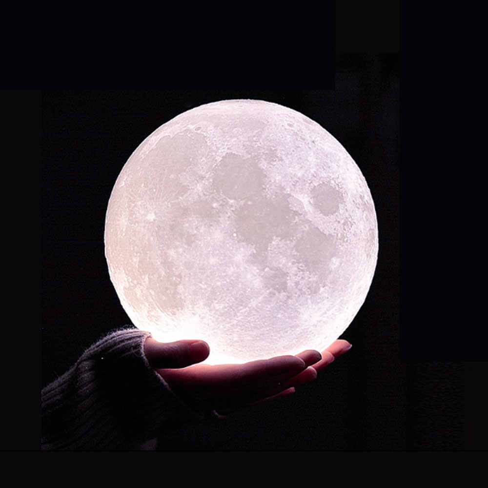 3D Print Moon Light Earth Lamp Rechargeable Color Change Touch USB Led Night Light Lamps Novelty luminaria Creative Kids Gift