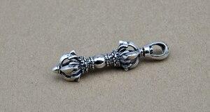 Image 4 - 100% Echt 925 Sterling Zilveren Vajra Hanger S925 Solid Thai Zilveren Hanger Voor Kettingen Mannen Vrouwen Sieraden CP06