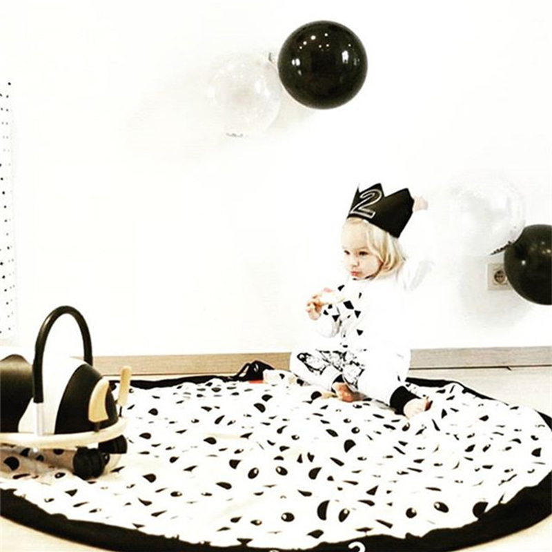 Baby Playmat Storage Room Rug Baby Gym Carpet In The Nursery Activity Gym Panda Pattern Hanging Wall Bag Playmat Baby Room Decor
