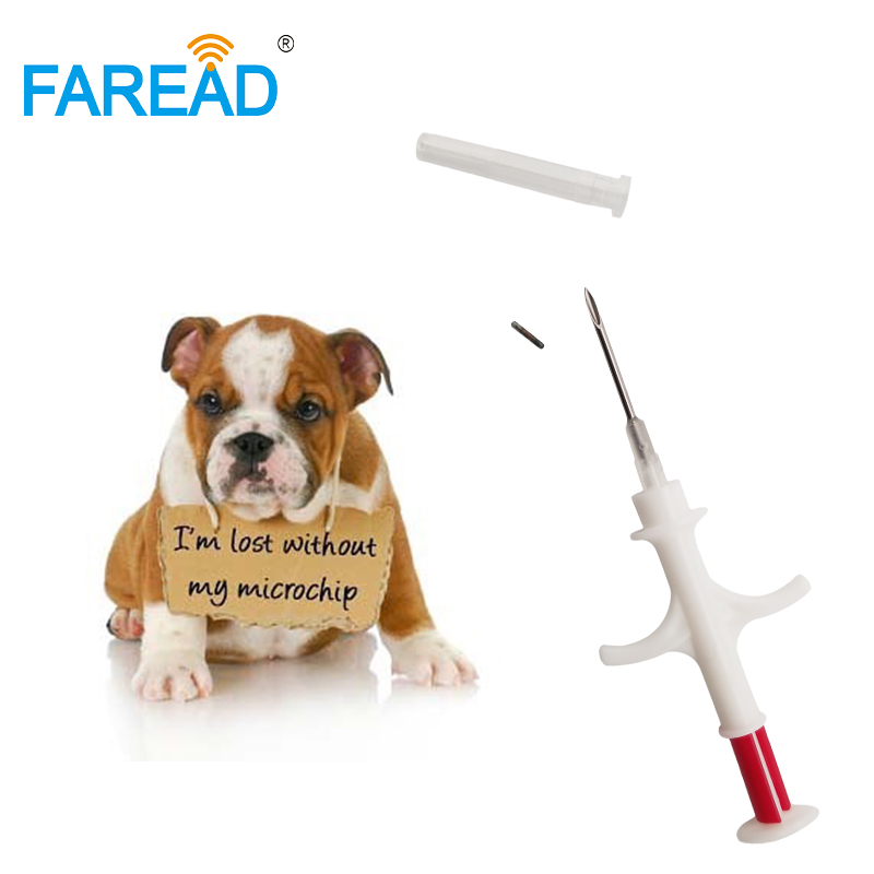 Free Shipping X200pcs Bulk Sale  EM4305 Chip Rfid Capsule Glass Tag Microchip Injector Syringe For Animal Veterinary