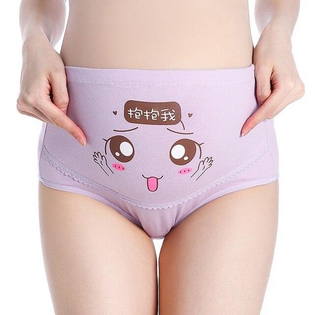 d791b42f530e7 1Pcs Cotton Pregnant Panties High Waist Mother Belly Support Underwear  Cartoon Postpartum Briefs Pregnancy Short Pants