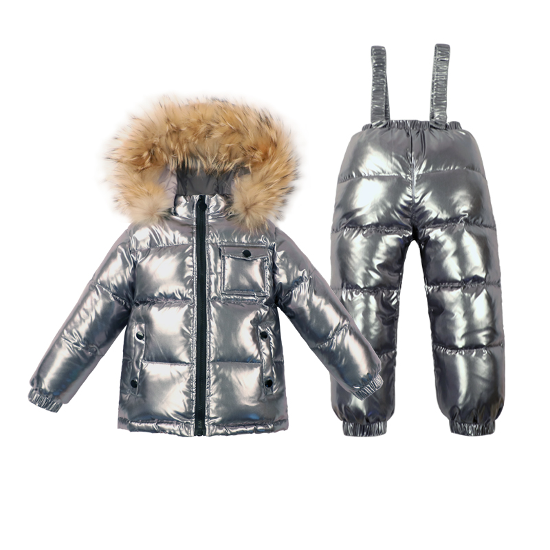 8badfb5795e2 Winter Children s Duck Down Clothing Boys Clothing Parka Real Fur ...
