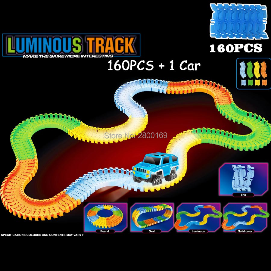 Glow-race-track-Bend-Flex-Glow-in-the-Dark-Assembly-Toy-112160256300PCS-Slot-Race-Track-1PC-LED-Car-Puzzle-Educational-Toys-2