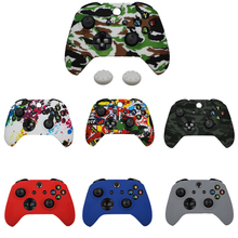 Camo Silicone Protective Skin Case Rubber Cover Sleeve For Xbox One Slim Controller Soft