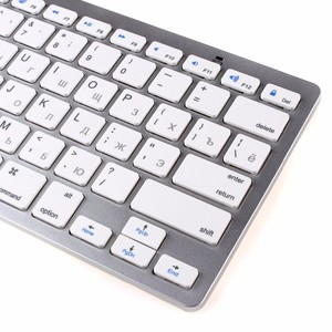 Image 3 - kemile Russian Wireless Bluetooth 3.0 keyboard for Tablet Laptop Smartphone Support iOS Windows Android System Silver and Black