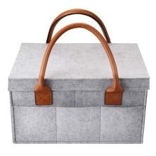 Baby Diaper bag Car Caddy Stroller Organiser Nappy Grey Basket Organizer Storage Bin For Compartment