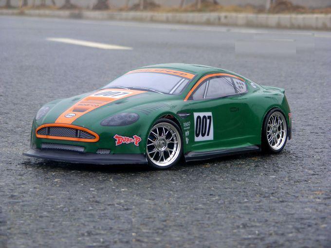 YUKALA S048 1/10 1:10 PVC painted body shell for 1/10 RC hobby racing car blue+green 2pcs/lot free shipping