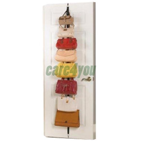Hat Clothes Organizer Hanging Cap Rack Holder Over Door Straps With