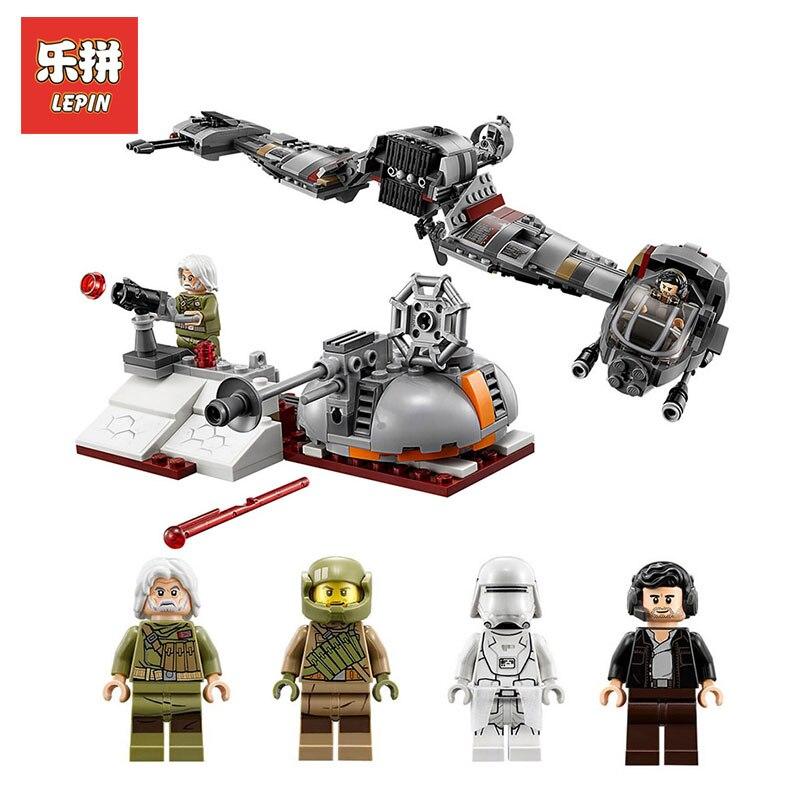 Lepin 05141 Star wars Plan Series The Defense Of Crait Set LegoINGlys 75202 model Building Blocks Bricks Toys For Children Gift