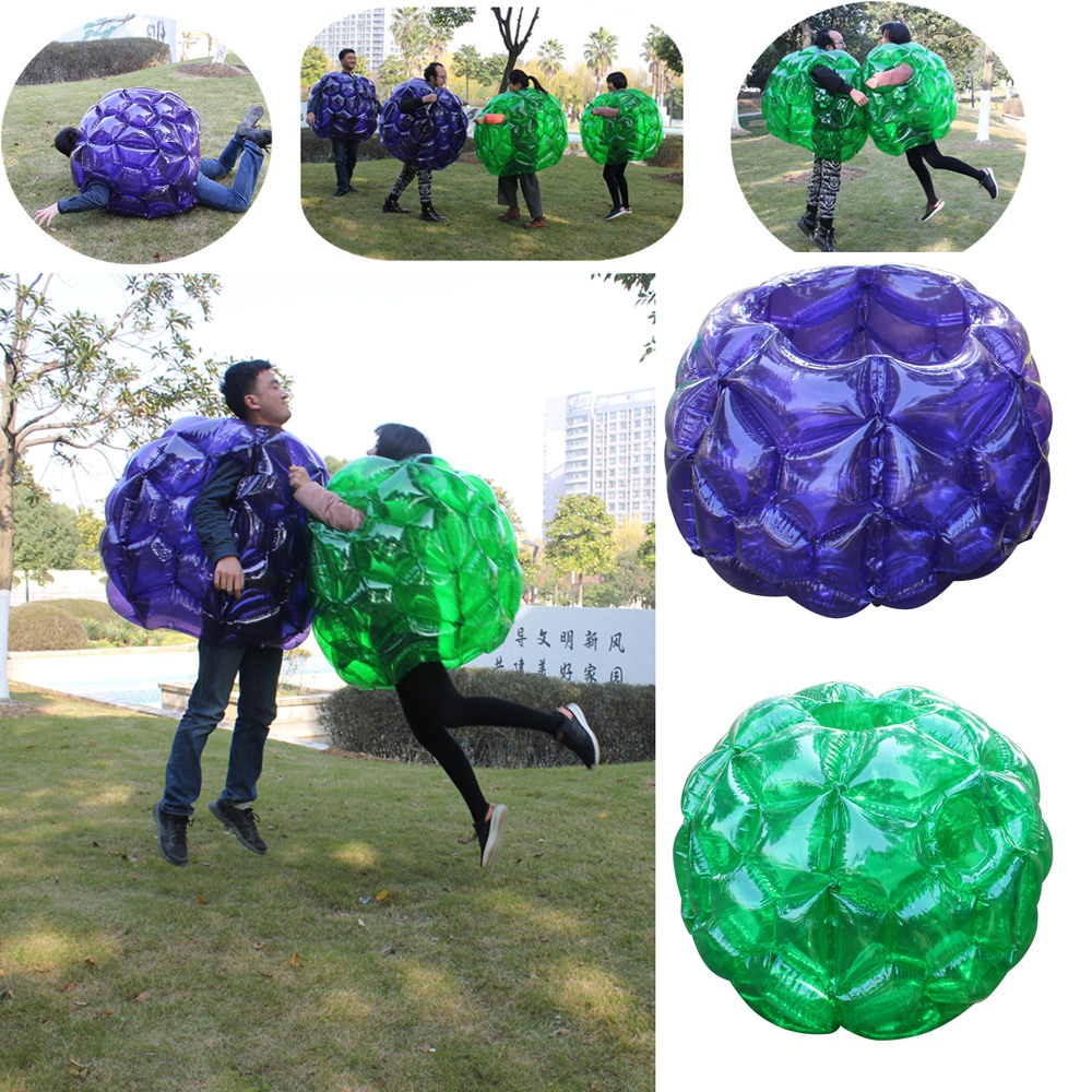 2 Pieces PVC 1.5M Lawn Inflatable Collision Impact Zorb Ball Run In Touch Ball Bubble Football  Air Bumper Ball Body Zorb Ball cheapest crazy best material tpu inflatable body bumper ball bubble soccer ball bubble ball for football