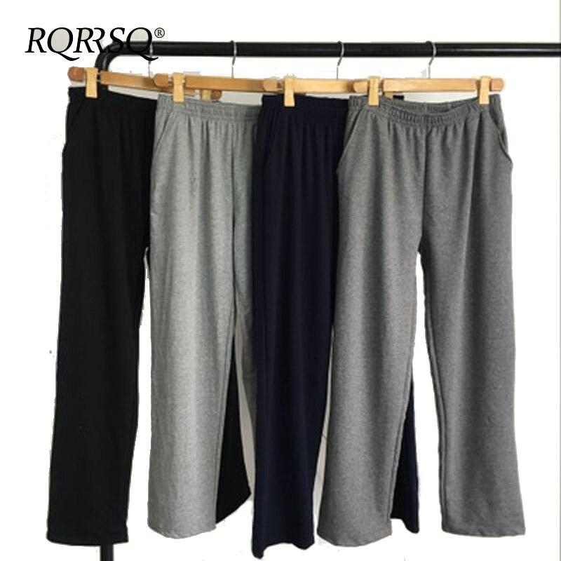 Mens Cotton Pajamas Hombre Pyjamas Pants Lounge Sleep Bottoms Underwear XL~4XL Plus Size Male Casual Loose Homewear Underpants