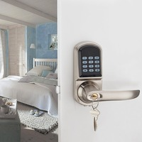 OS8015MF Electronic Keyless Deadbolt Door Lock Unlock with Code MI fare Cards Mechanical Key Security Lock System