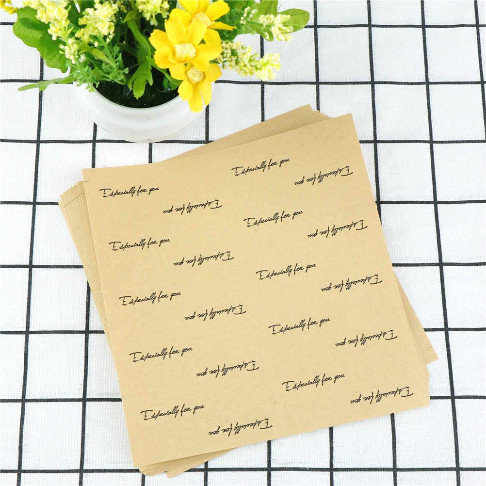 200 adet Özellikle Sizin Için Uzun Kraft Kağıt Etiket Scrapbooking Etiketleri Hediye Etiket Kendinden yapışkanlı kendi başına yap kağıdı Etiketi 1.5x7.8 cm