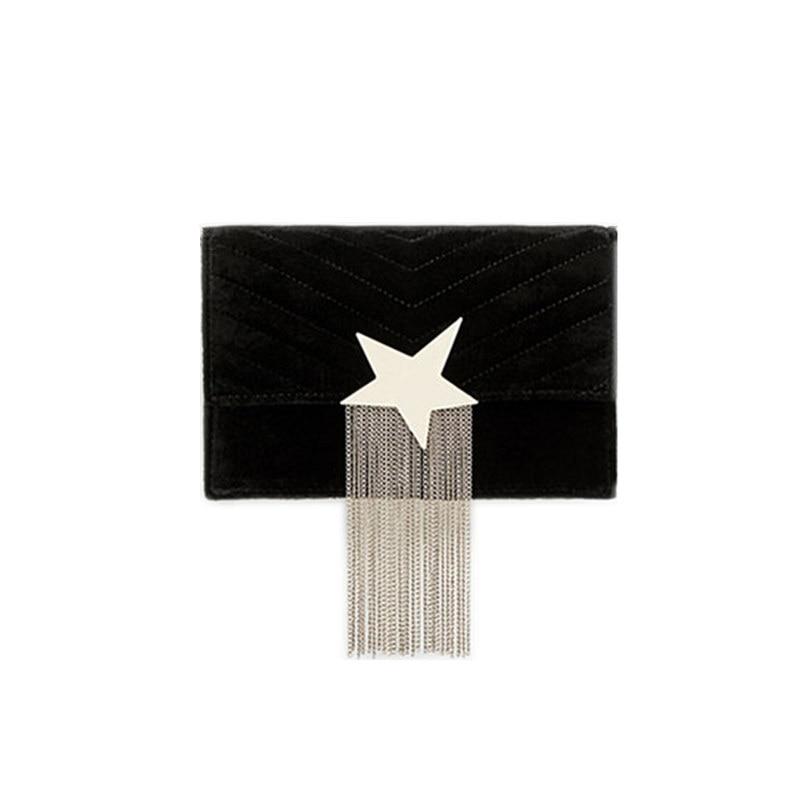 2018The New Retro small square bag chain Messenger bag mini packet suede bag stars decorative tassels shoulder bag handbags tide все цены
