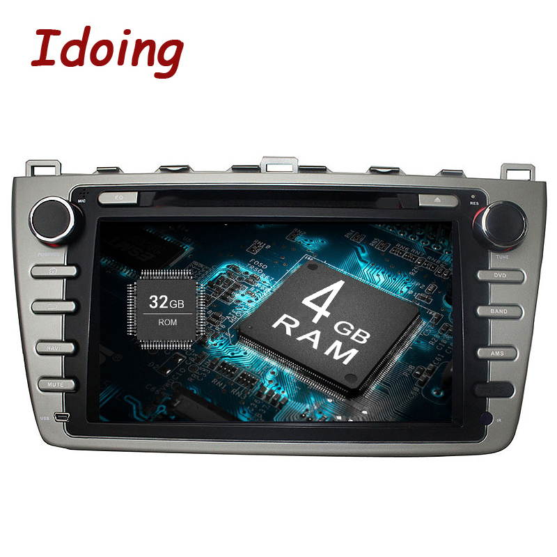 Idoing 2Din Android8.0 Volant De Voiture DVD Lecteur Multimédia Fit Mazda 6 GPS Navigation 4g + 32g 8 Core 1080 p Bluetooth TV OBD2