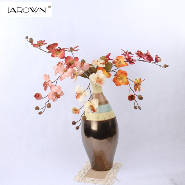 Jarown artificial butterfly flowers fake flowers table arrange silk jarown artificial butterfly flowers fake flowers table arrange silk flowers for wedding home party decoration accessory mightylinksfo