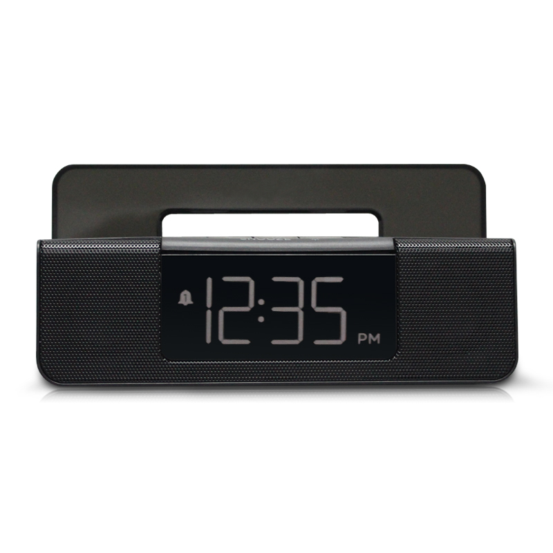 Radio super loud alarm clock Night light radio multi function bedroom LED electronic clock sound box square Plastic Modern