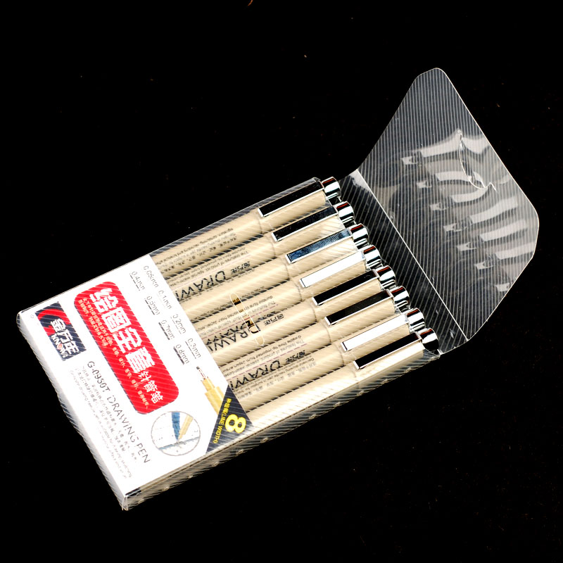 0.05/0.1/0.2/0.3/0.4/0.5/0.7/0.8mm Fineliner Sketch Marker Fine Point Drawing Marker Manga Graffiti Marker Pen parker 88 maroon lacquer gt fine point fountain pen