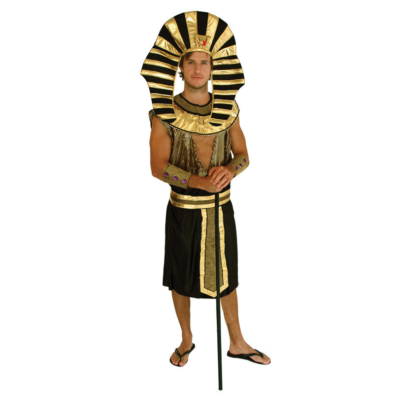 King Tut - Egyptian Pharaoh Adult Carnival Halloween Costumes For Men  Fantasy Fancy Party Dressing