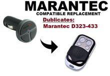 Marantec D323  Garage Door/Gate Remote Control Replacement/Duplicator Remote Control Key Fob 433.92mhz fixed code цены