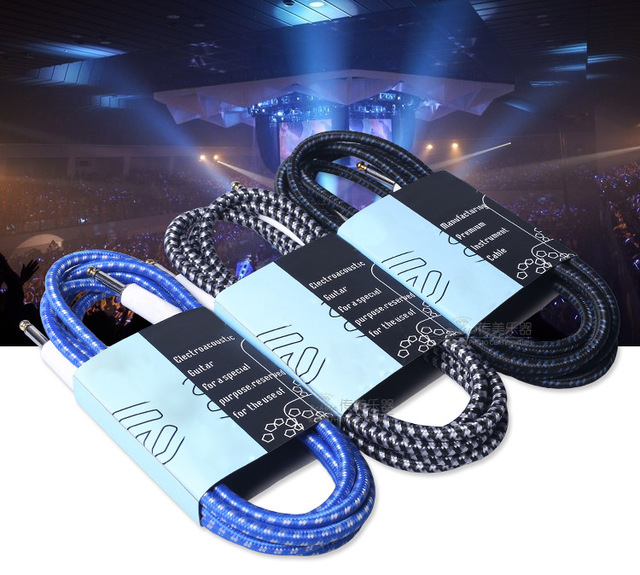 Precision woven nylon guitar cable 3 meters Noise reduction ...