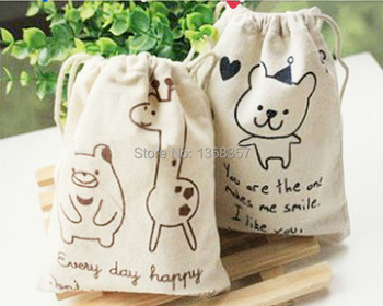 100pcs/lot wholesale jute/linen/flax drawstring jewelry bags for toiletry/shaver packaging,Size can be customized,Various colors