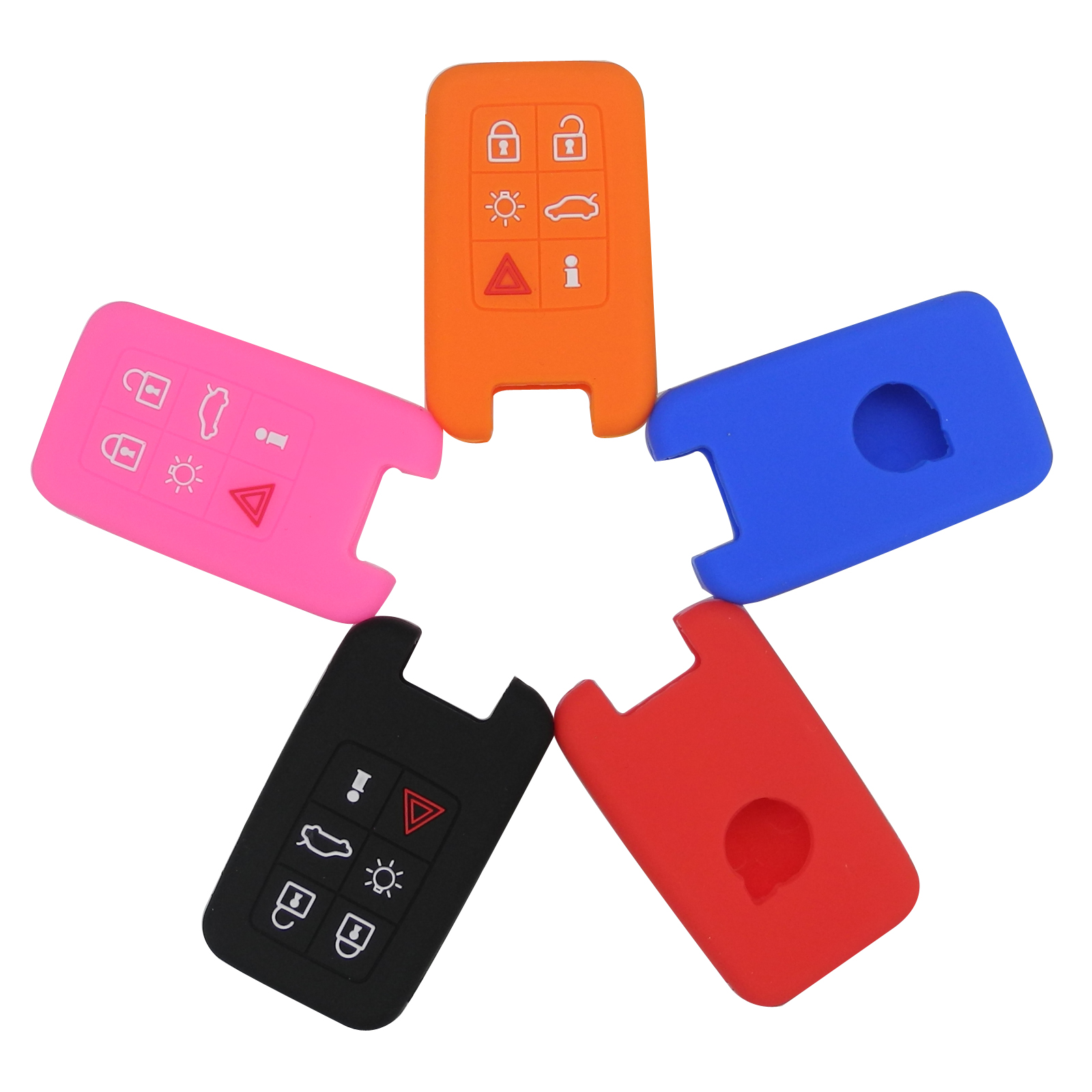 6 Buttons Car Key Case for Volvo C30 C70 S40 S60 S70 S80 V40 V50 V70 XC60 XC90 Smart Remote Car Key Silicone Case Cover whatskey uncut blade transponder ignition car key shell case for volvo s40 s60 s70 s80 v40 v70 xc60 xc70 xc90 850 960 c70 v7 d30