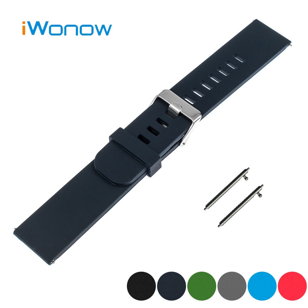 Silicone Rubber Quick Release Watch Band 18mm for Withings Activite / Steel / Pop Strap Wrist Belt Bracelet Black Blue Green Red t rrce expert black silicone rubber strap t048 watch band for t048417a 21mm